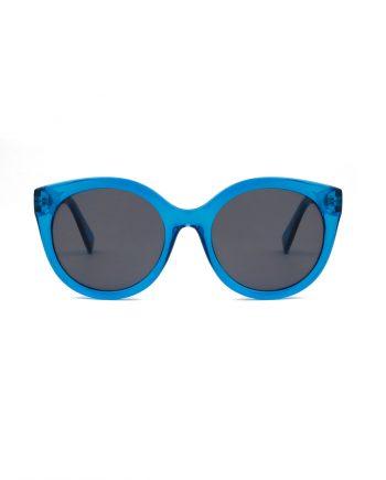 A.Kjaerbede unisex zonnebril model BUTTERFLY kleur blauw met grijze glazen AKsunnies bril