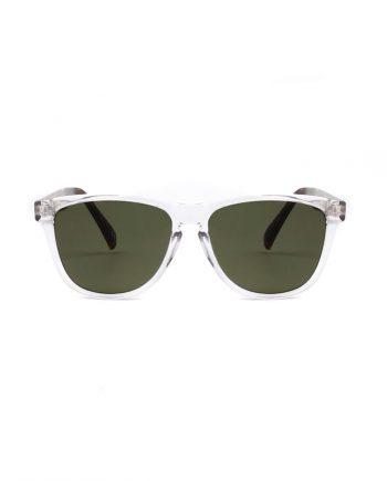 A.Kjaerbede zonnebril model MATE kristal met groene glazen AKsunnies bril sunglasses