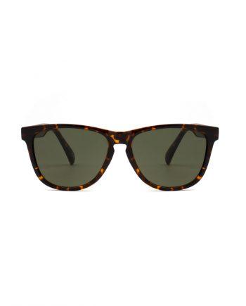 A.Kjaerbede zonnebril model MATE bruin tortiose met groene glazen AKsunnies bril sunglasses
