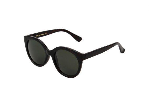 Dames Akjaerbede Butterfly zonnebril bruin turtoise met bruine glazen AKsunnies bril