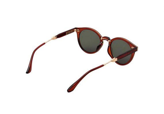 Unisex Akjaerbede Eazy opvouwbare zonnebril bruin transparant met bruine glazen AKsunnies bril