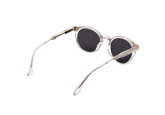 Unisex Akjaerbede Eazy opvouwbare zonnebril transparant met grijze glazen AKsunnies bril