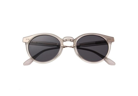 Unisex Akjaerbede Eazy opvouwbare zonnebril mat grijs met grijze glazen AKsunnies bril