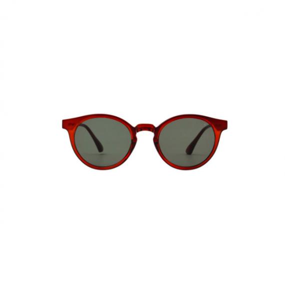 A.Kjaerbede zonnebril model EAZY bruin transparant met groene glazen AKsunnies bril