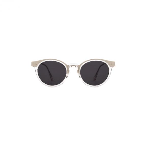 A.Kjaerbede zonnebril model EAZY kristal transparant met grijze glazen AKsunnies bril sunglasses