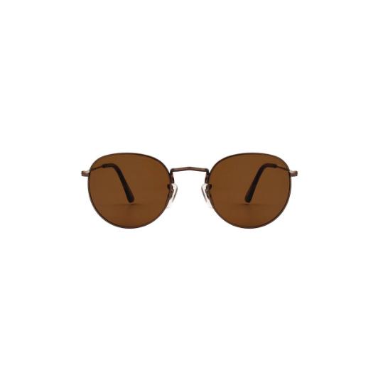 A.Kjaerbede unisex zonnebril model Hello kleur bruin met bronze glazen AKsunnies bril