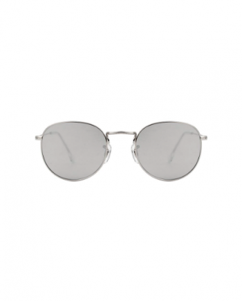 A.Kjaerbede unisex zonnebril model Hello zilver met zilveren spiegel glazen AKsunnies bril festival