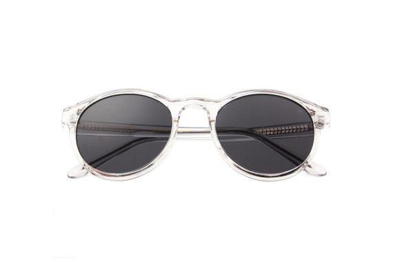 A.Kjaerbede zonnebril model MARVIN kristal transparant met grijze glazen AKsunnies bril sunglasses