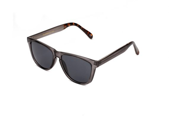 A.Kjaerbede zonnebril model MATE donker grijs transparant met groene glazen AKsunnies bril sunglasses