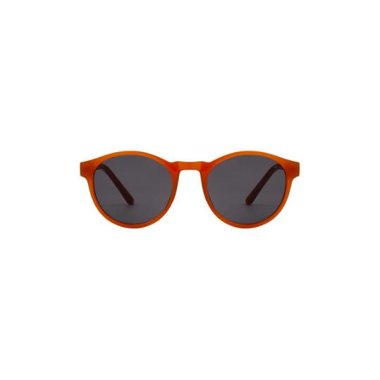 A.Kjaerbede zonnebril model MARVIN oker geel met grijze glazen AKsunnies bril sunglasses