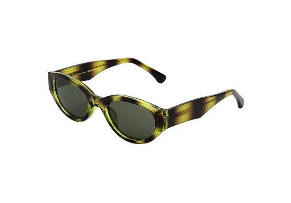 A.Kjaerbede zonnebril model WINNIE groen zwart gevlekt met groene glazen AKsunnies bril sunglasses