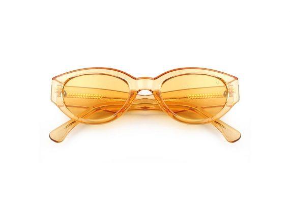 A.Kjaerbede zonnebril model WINNIE kleur geel met licht gele glazen AKsunnies bril sunglasses