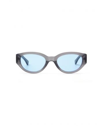 A.Kjaerbede zonnebril model WINNIE kleur mat grijs met licht blauwe glazen AKsunnies bril sunglasses