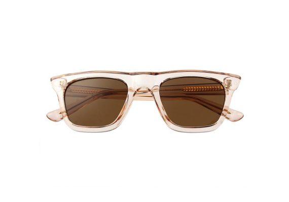 Unisex Akjaerbede Fine zonnebril kleur champagne met bruine glazen AKsunnies bril