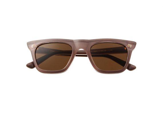 Unisex Akjaerbede Fine zonnebril grijs roze met bruine glazen AKsunnies bril