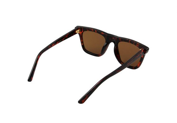 Unisex Akjaerbede Fine zonnebril bruin tortoise met bruine glazen AKsunnies bril