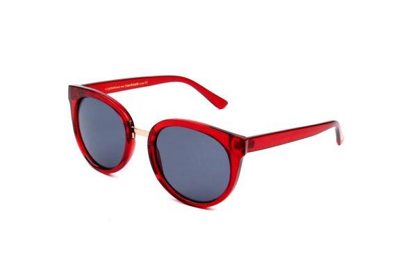 A.Kjaerbede zonnebril model Gray kleur rood met grijze glazen AKsunnies bril