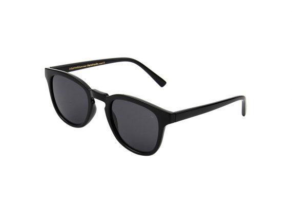 unisex Akjaerbede BATE zonnebril kleur zwart met grijze glazen AKsunnies bril