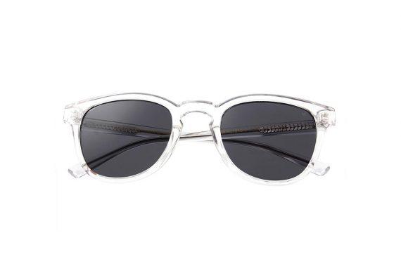 unisex Akjaerbede BATE zonnebril kleur transparant met grijze glazen AKsunnies bril