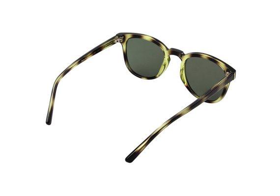 unisex Akjearbede BATE zonnebril kleur groen gevlekt met groene glazen AKsunnies bril