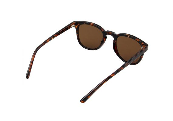 unisex Akjearbede BATE zonnebril kleur bruin tortoise met bruine glazen AKsunnies bril