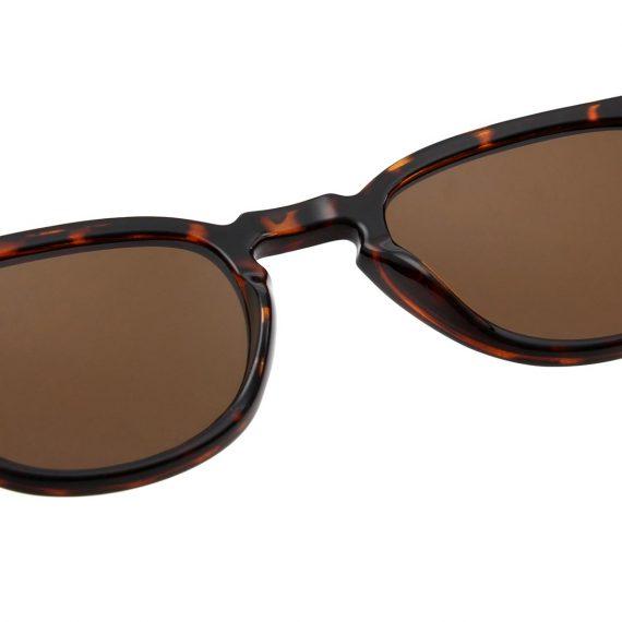 unisex Akjaerbede BATE zonnebril kleur bruin tortoise met bruine glazen AKsunnies bril