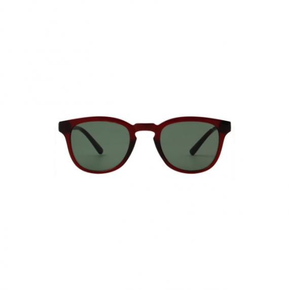 A.Kjaerbede zonnebril model BATE bruin transparant met groene glazen AKsunnies bril