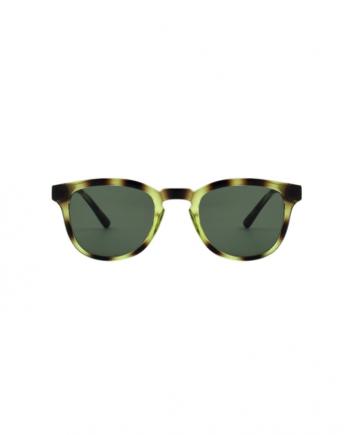A.Kjaerbede zonnebril model BATE groen gevlekt met groene glazen AKsunnies bril sunglasses