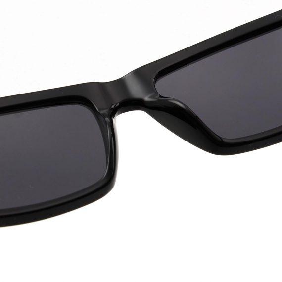 A.Kjaerbede zonnebril model CLAY kleur zwart met grijze glazen AKsunnies bril