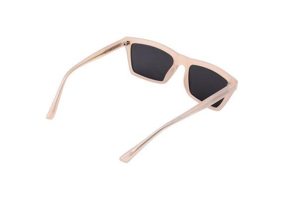 A.Kjaerbede zonnebril model CLAY kleur zacht roze met grijze glazen AKsunnies bril