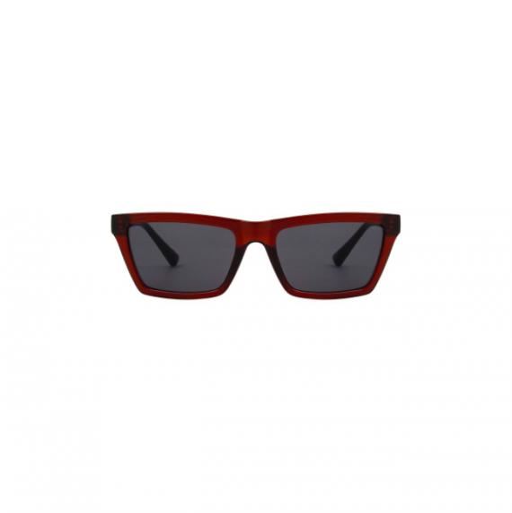 A.Kjaerbede unisex zonnebril model CLAY kleur bruin met grijze glazen AKsunnies bril