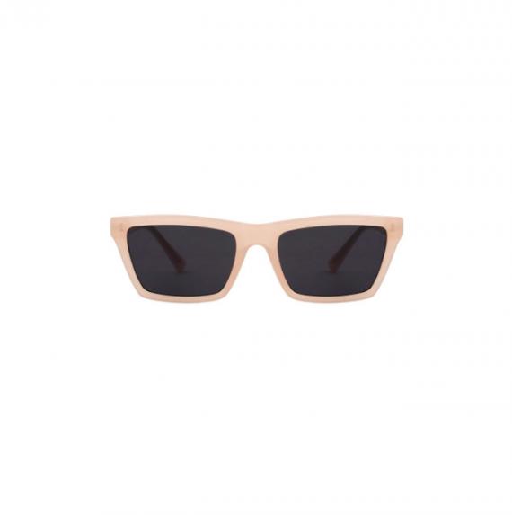 A.Kjaerbede unisex zonnebril model CLAY kleur roze met grijze glazen AKsunnies bril