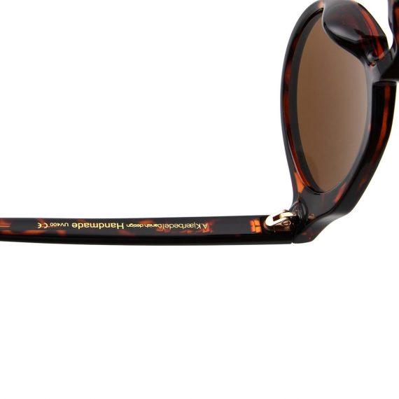 George zonnebril kleur bruin tortoise met bronze glazen AKsunnies bril