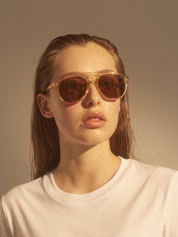 A.Kjaerbede zonnebril model HENRY champagne met bronze glazen AKsunnies bril sunglasses