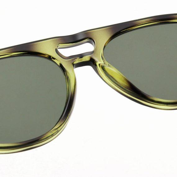A.Kjaerbede zonnebril model HENRY groen gevlekt met groene glazen AKsunnies bril sunglasses