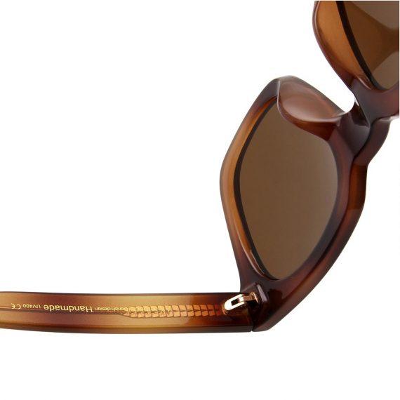 A.Kjaerbede zonnebril model NANCY demi bruin met bronze glazen AKsunnies bril sunglasses