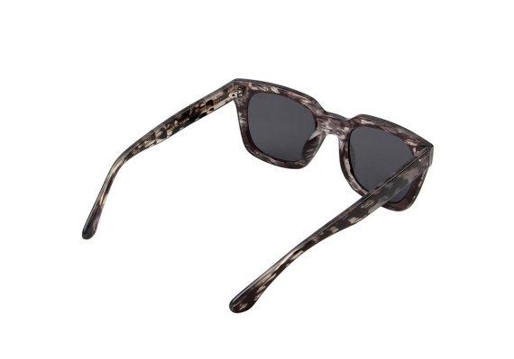 A.Kjaerbede zonnebril model NANCY zwart grijs gevlekt met grijze glazen AKsunnies bril sunglasses