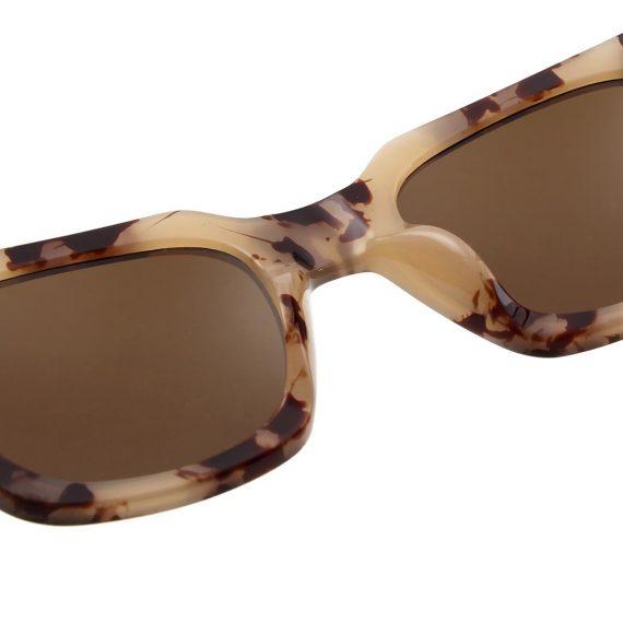A.Kjaerbede zonnebril model NANCY kleur hoorn bruin gevlekt met grijze glazen AKsunnies bril