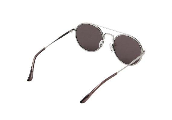 A.Kjaerbede zonnebril model Pilot zilver met zilveren spiegel glazen AKsunnies bril festival