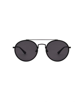 A.Kjaerbede zonnebril model PILOT kleur zwart met grijze glazen AKsunnies bril