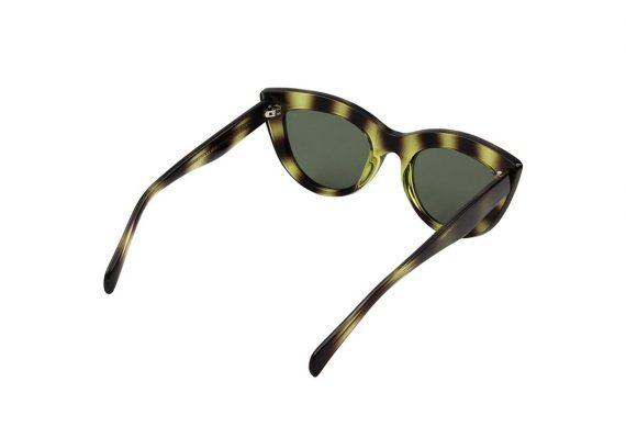 A.Kjaerbede zonnebril model Stella groen zwart gevlekt met groene glazen AKsunnies bril sunglasses