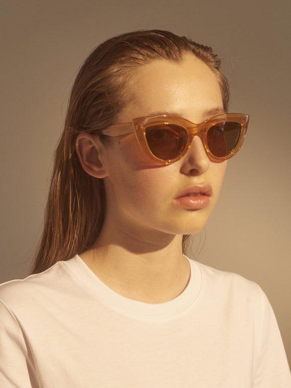 A.Kjaerbede zonnebril model Stella licht bruin met bronze glazen AKsunnies bril sunglasses