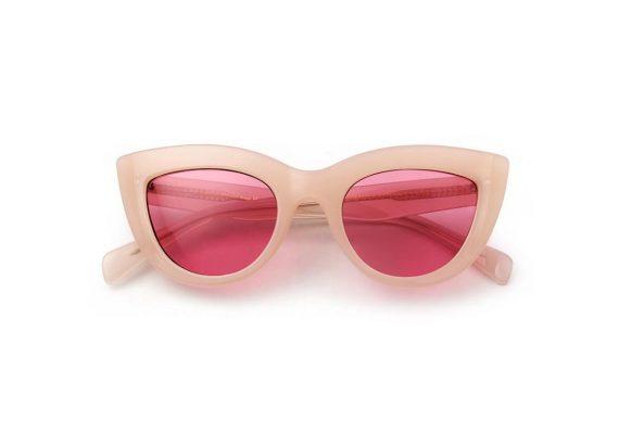 A.Kjaerbede zonnebril model Stella perzik met roze glazen AKsunnies bril sunglasses