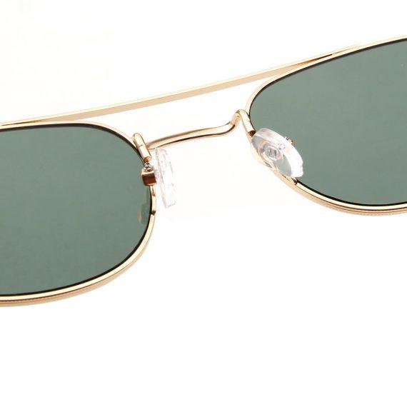 A.Kjaerbede zonnebril model Toby kleur goud met groene glazen AKsunnies bril
