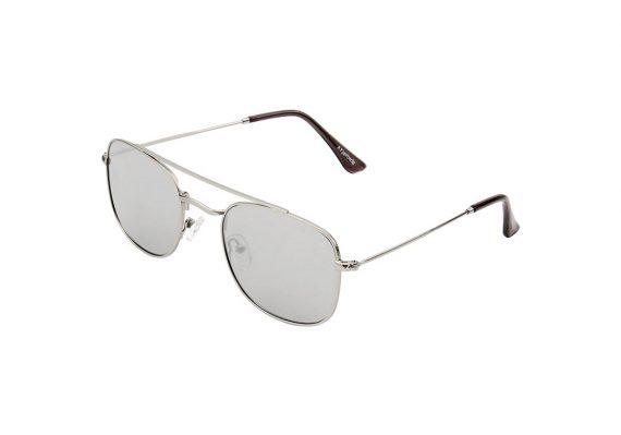 A.Kjaerbede zonnebril model Pilot zilver met zilveren spiegel glazen AKsunnies bril