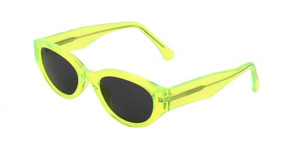 A.Kjaerbede zonnebril model Winnie kleur neon met grijze glazen AKsunnies bril sunglasses