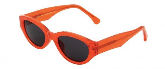 A.Kjaerbede zonnebril model Winnie kleur oranje met grijze glazen AKsunnies bril sunglasses Akjaerbede eyewear