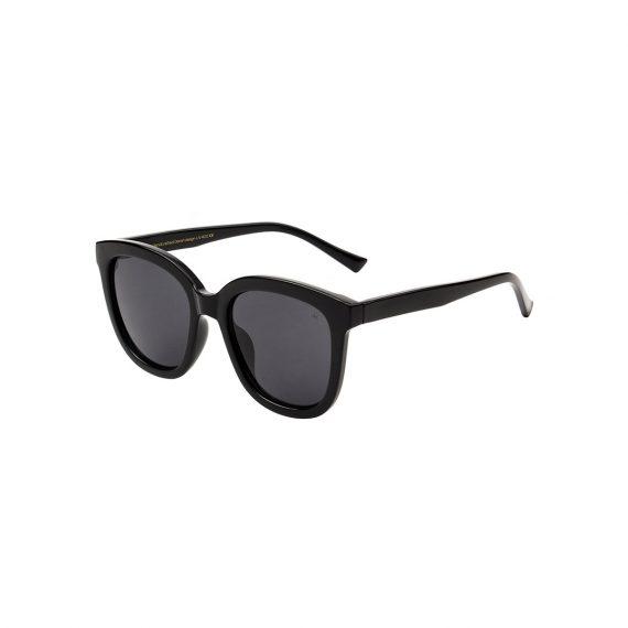 A.Kjaerbede zonnebril model BILLY kleur zwart met grijze glazen AKsunnies bril sunglasses Akjaerbede eyewear