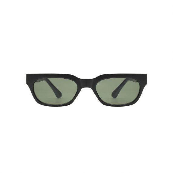 A.Kjaerbede zonnebril model BROR kleur zwart met groene glazen AKsunnies bril sunglasses Akjaerbede eyewear