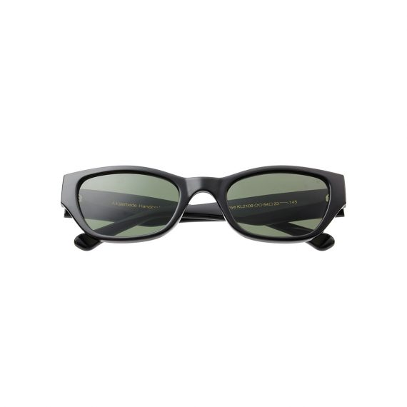A.Kjaerbede zonnebril model KANYE kleur zwart met groene glazen AKsunnies bril sunglasses Akjaerbede eyewear